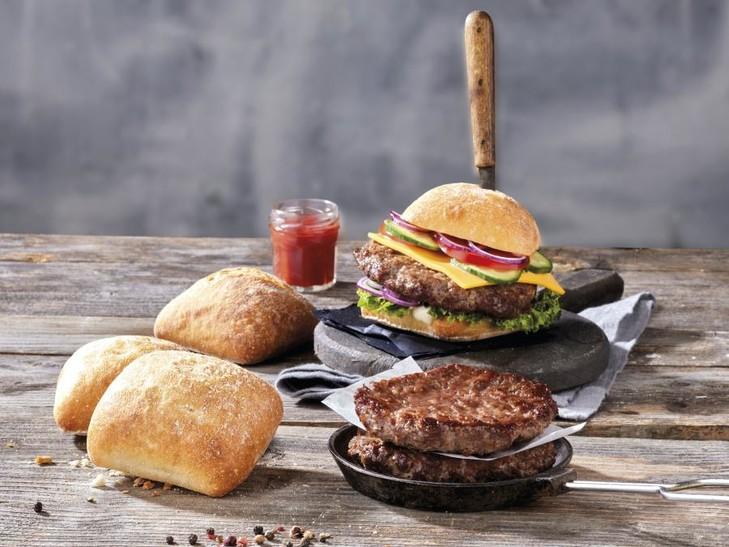 Combi hamburger+ciabatta