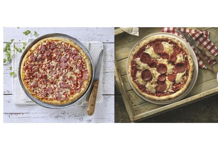Combi pizza salami/prosciutto