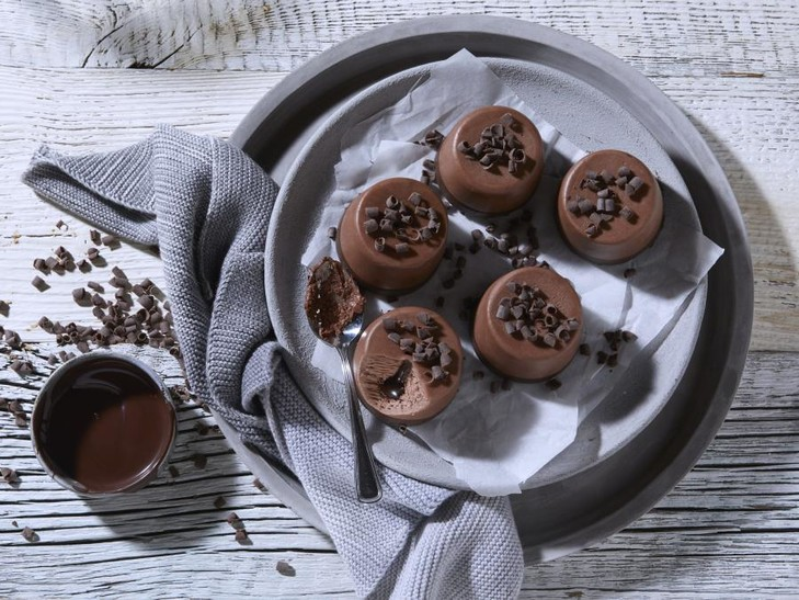 Chocolade-ijsdessert
