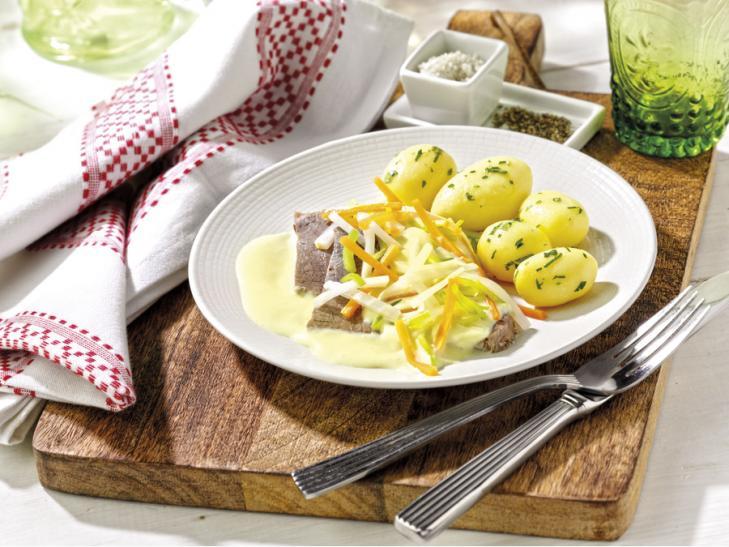 Tafelspitz met peterselie-aardappelen
