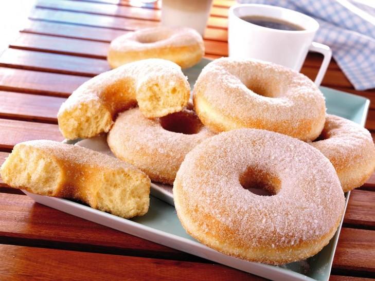 Donuts met suiker