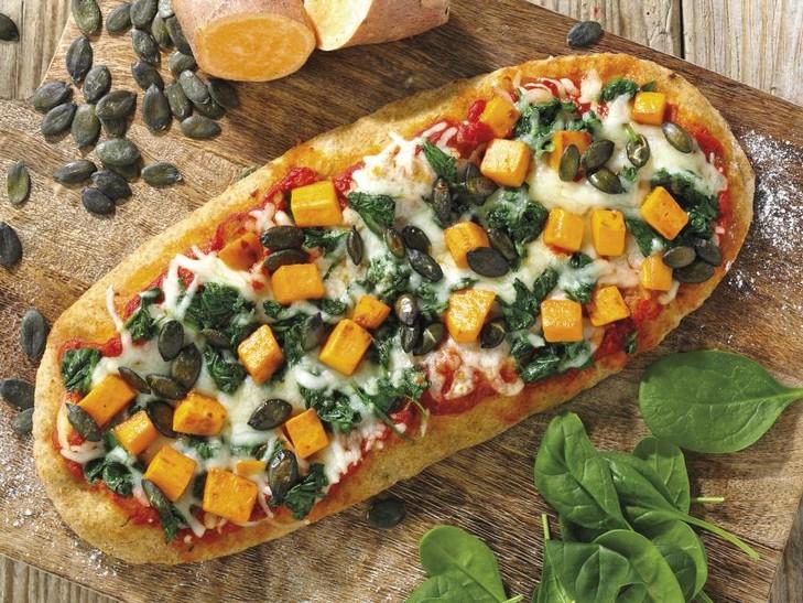 Pizza zoete aardappel