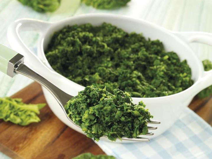 Gehakte spinazie