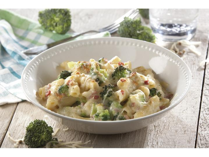 Penne broccoli-ham