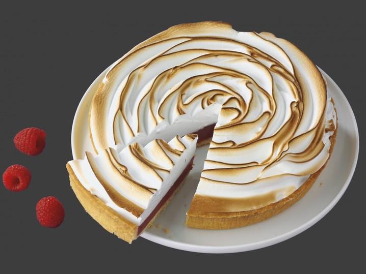 Meringue-taart framboos