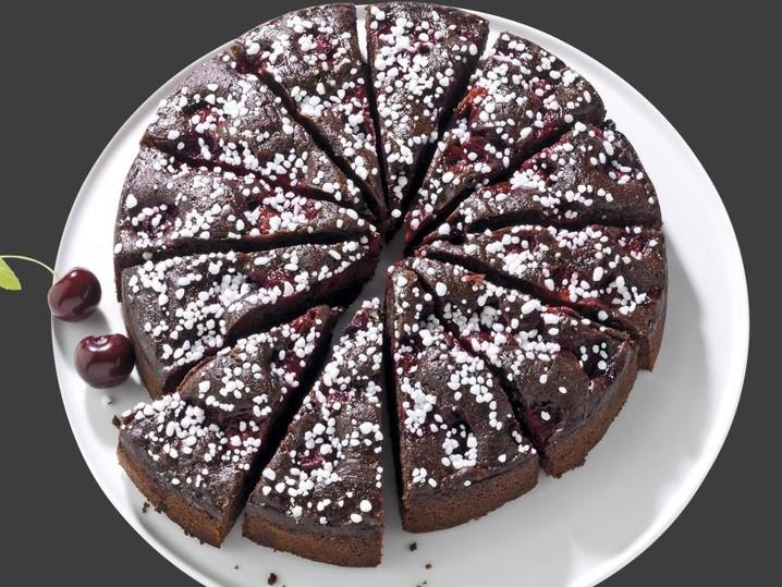 Chocolade-kersentaart
